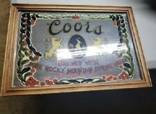 Vintage Coors Beer Mirror Brewed With Pure Rocky Mountain Spring Water Sign