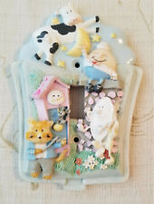 Nursery Rhymes Colorful 3D Raised Characters Porcelain Light Switch Cover