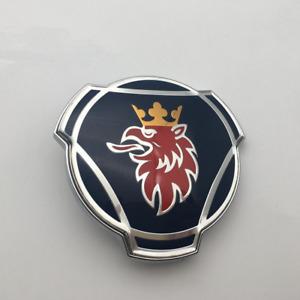 80mm Saab Scania Blue Hood Bonnet Front Truck Badge Emblem Decal Logo 1401610