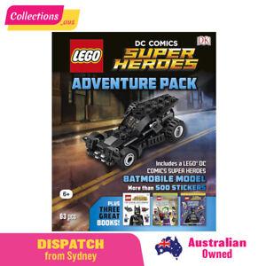 GENUINE LEGO DC Comics Super Heroes Adventure Pack - Books, Stickers & Batmobile