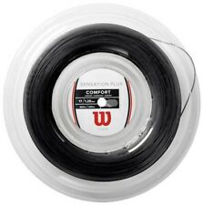 WILSON SENSATION PLUS TENNIS STRING - 1.28MM 17G - 200M REEL - BLACK - RRP £150