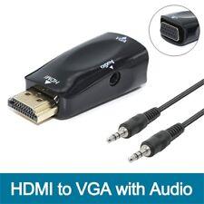 HDMI a VGA Macho / Hembra a Hembra HD 1080P Convertidor + 3.5mm Cable de Audio