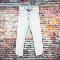 Aeropostale Size 2 Regular Bayla Skinny Pink Acid Washed Denim Jeans