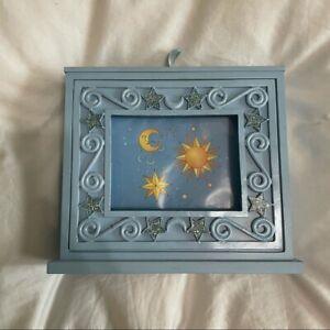 Y2K Baby Blue Wood Photo Album Stars/Constellation