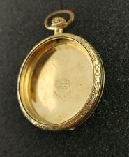 VINTAGE 12 SIZE GREEN GOLD POCKET WATCH CASE GOOD CONDITION!