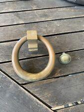 Sólido anillo de bronce de calidad puerta frontal Aldaba