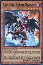 RED EYES RETRO DRAGON Yugioh MINT Rare Card BOSH-EN095 Super