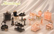 Megahouse dollhouse miniature princess style furniture black version full set 5