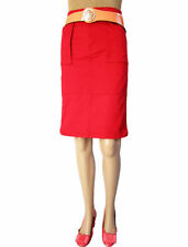 H&M Cotton Blend Patternless Casual Skirts for Women