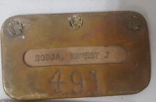Vintage Tooele Plant International Smelting Company Brass Name Plate #491