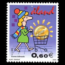 Aland 2002 - Transition to Euro Animation Numismatic - Sc 201 MNH