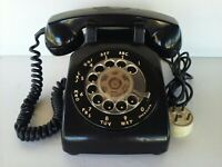 Vintage Bell System Western Electric Black Rotary Desk Phone