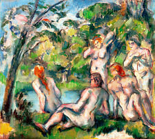 Bathers I by Paul Cezanne 84cm x 76cm High Quality Art Print