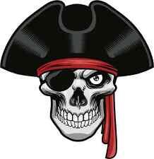 """Pirate Skull Bumper Sticker 5"""" x 5"""""""