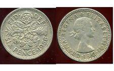 ROYAUME UNI  six pence  1956  ( bis )