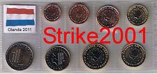 Euro OLANDA 2011 - 8 PZ FDC in Blister -