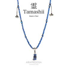 NECKLACE ORIGINAL TIBETAN TAMASHII MUDRA AGATE BLUE NHS1500-18
