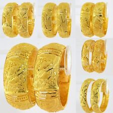 Indian Ethnic Traditional 18k Gold Plated 2Pc Bangle Set Women Jewelry