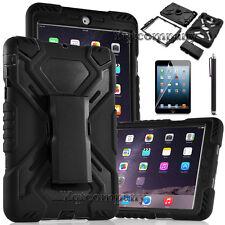 Protective Shockproof Hybrid Rugged Hard Black Case Cover Apple iPad Mini 1 2 3