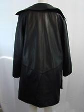 Marcia Collection Women's 3/4 100% leather Coat Black SizeSMALL-ZIP OUT LINING