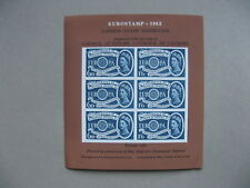 UK GB ENGLAND CINDERELLA, non-postal S/S 1962 block of 6 Stamps CEPT Europe 1960
