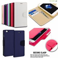 For iPhone Samsung LG ZTE Wallet Magnetic Clasp Cover Flip PU Leather Phone Case