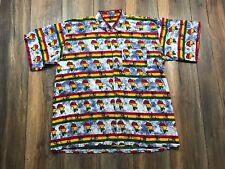 RARE Vtg AFRICA Black Pride All Over Print Kente Button up Polo Dress Shirt  XL