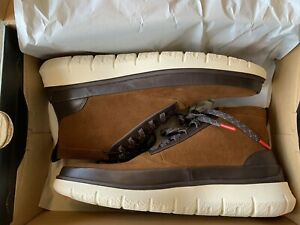 Cole Haan Men's Zerogrand Water Resistant Suede Hightop Boots Sz 10 NWB