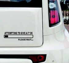 Attempting To Give A F*ck Funny Bumper Sticker Vinyl Decal JDM Fck Car Truck
