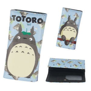 Anime Totoro Faux Leather Long Wallet Purse Holder Kids Wallet Collection Blue