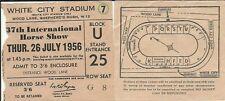 Ticket 37th INTERNATIONAL HORSE SHOW 1956 White City Stadium LONDON racing W12