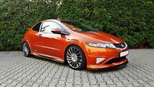 Seitenschweller ansätze Honda Civic VIII Type R S Leisten Schweller ansatz Black