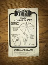 Vintage Star Wars Ewok Combat Glider Instruction Sheet