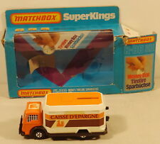 DTE FRENCH LESNEY MATCHBOX SUPERKINGS SK-88 CAISSE D'ESPARGNE MONEY BOX TRUCK