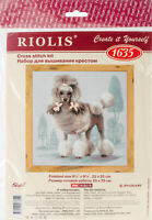 """RIOLIS Counted Cross Stitch Kit 9.75""""X9.75""""-Poodle (14 Count), R1635"""