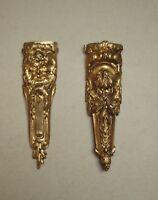 2 superbes anciens bronzes d'ameublement de style Louis XVI - XIXe siècle