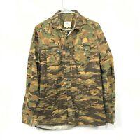 Ecko Unltd Men's Camouflage Long Sleeve Button Up Green Camo Shirt Size M