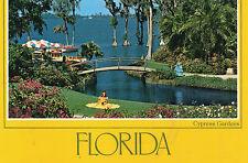 postcard   USA Florida  Roses at Cypres Gardens   unposted