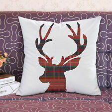 Throw Pillow Cover Cushion Covers Christmas Winter Deer Toss Pillowcase 18x18''