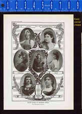 Opera Stars of the Past -De Reskze-Melba-Sembrich-Calve-Nordica 1925 Music Print