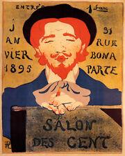 """SALON DES CENT 1895 ART EXHIBITION PARIS 8"""" X 10"""" POSTER REPRO FREE SHIPPING"""