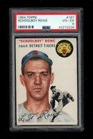 1954 Topps BB Card #197 Schoolboy Rowe Detroit Tigers PSA VG-EX 4 !!!
