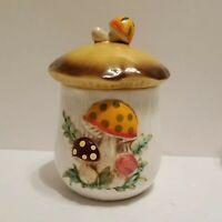 Vintage Sears Roebuck Merry Mushroom Toadstool Canister Japan 1978  Jar 6 inch