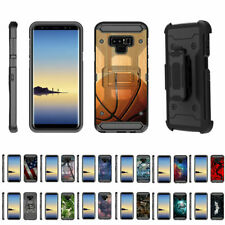 For Samsung Galaxy Note 9 N960 Full Body Armor Rugged Holster Belt Clip Case
