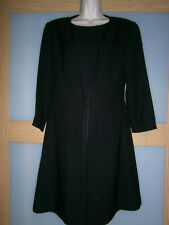 LIZ CLAIBORNE womens black 2in 1 dress and cape size 10
