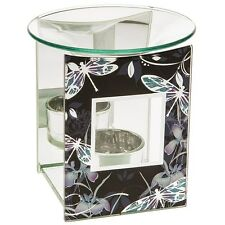 dragonfly glass oil burner fragrance scented melt yankee village glass gift