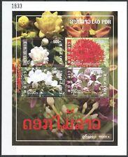 LAOS Bloc N°181** Bf  Fleurs Jasmin .... , 2009 LAOS Mi BL 214 Flowers Sheet MNH