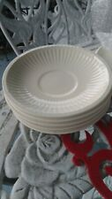 (5) cream Wedgwood Queen's Ware Edme Made In England saucers