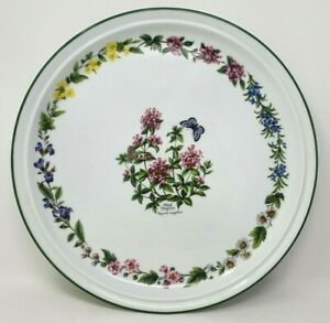 Royal Worcester Herbs 13.5 Inch Round Serving Cake Gateau Platter Wild Thyme