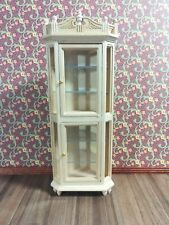 Dollhouse Miniature Corner Display Cabinet Unfinished 1:12 Scale Furniture